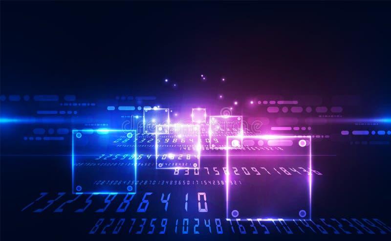 Conceito futuro da tecnologia de circuito digital do vetor, ilustra??o abstrata do fundo ilustração stock