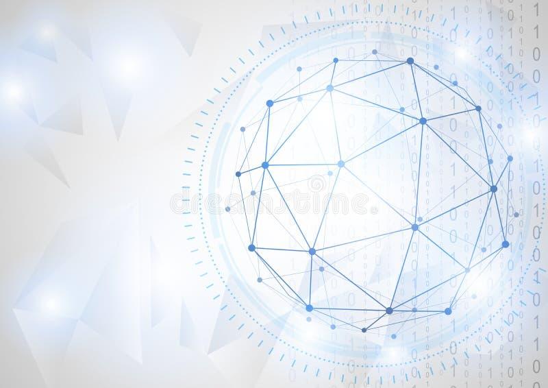 Conceito futuro da tecnologia do negócio global ilustração stock
