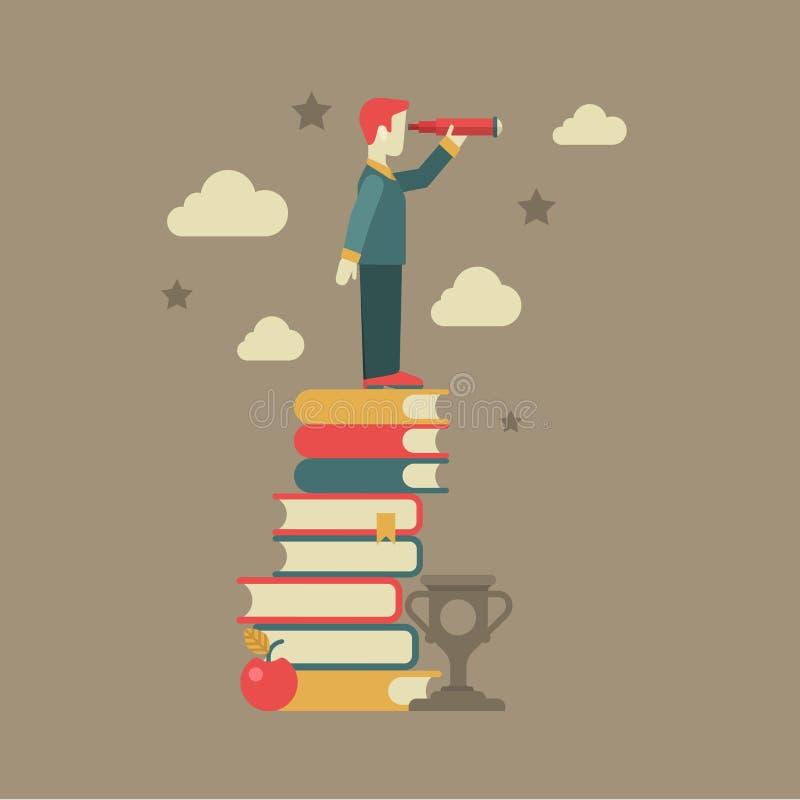Conceito futuro da visão da educação lisa ilustração royalty free