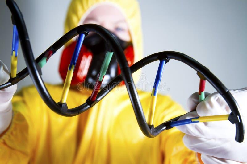 Conceito genético do ADN isolado no fundo branco foto de stock royalty free