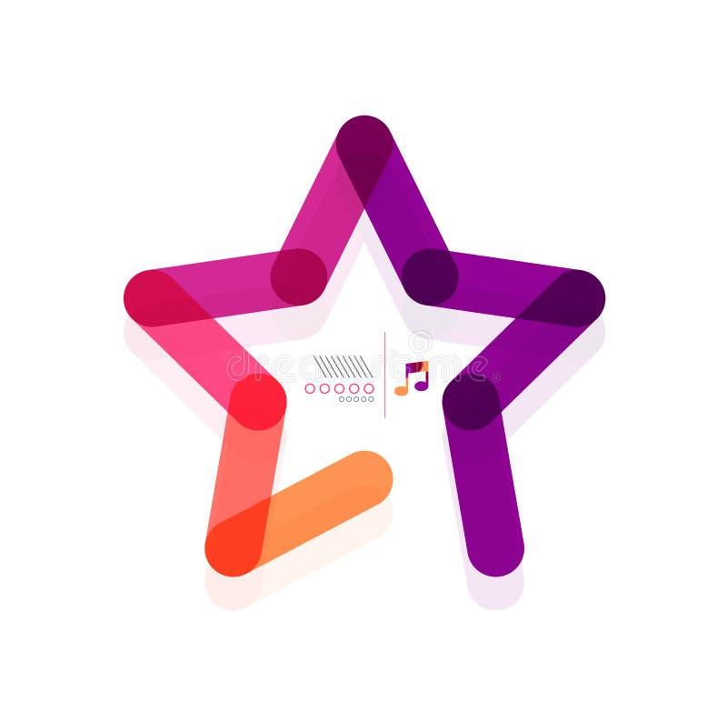 Conceito geométrico da forma do sumário da estrela do vetor ilustração royalty free