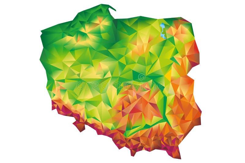 Conceito geométrico do mapa do Polônia ilustração royalty free