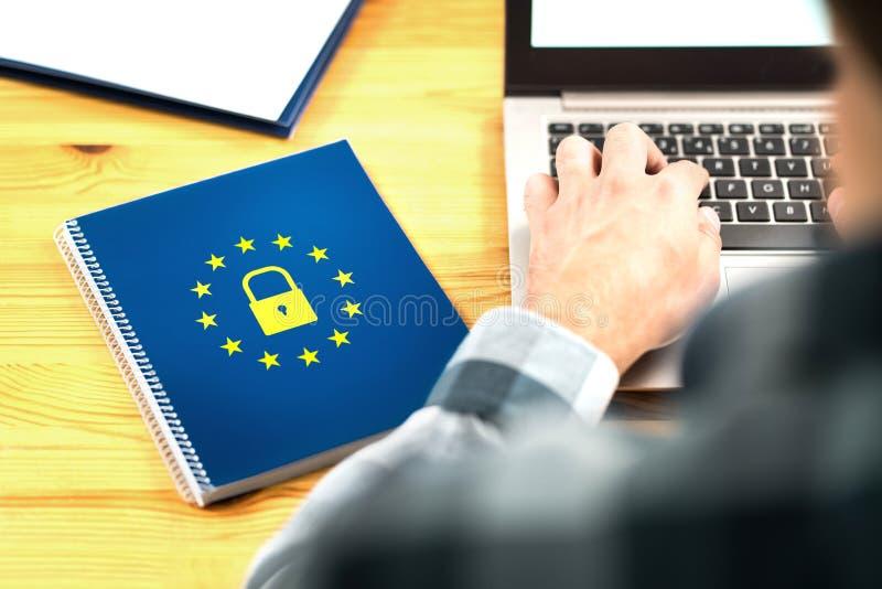 Conceito geral do regulamento da proteção de dados de GDPR fotos de stock