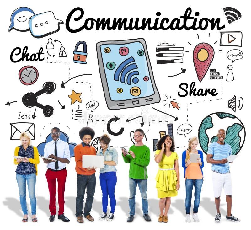 Conceito global da conexão da tecnologia das comunicações fotos de stock royalty free
