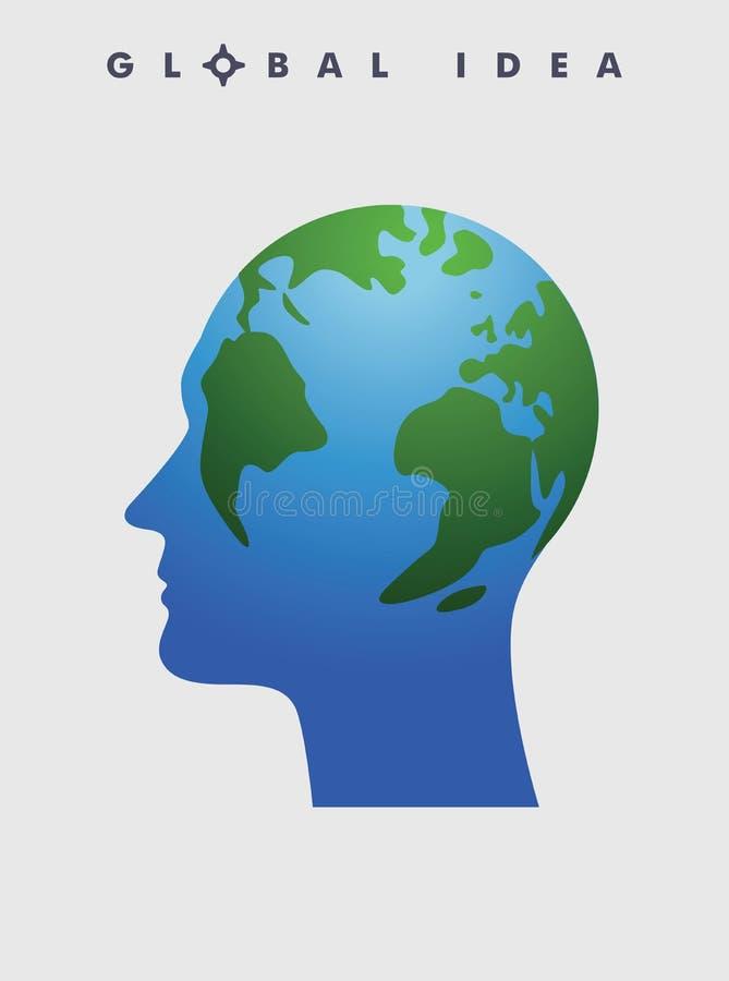 Conceito global da ideia ilustração do vetor
