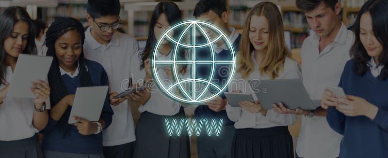 Conceito global do gráfico dos trabalhos em rede de uma comunicação da conexão fotos de stock royalty free