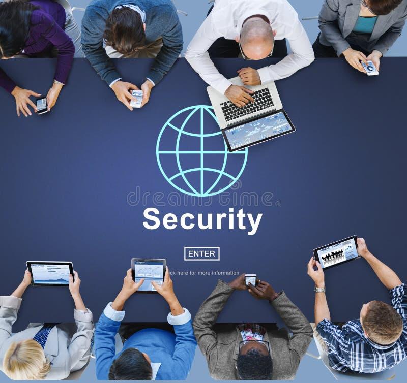 Conceito global do homepage da tecnologia da segurança de dados imagem de stock royalty free