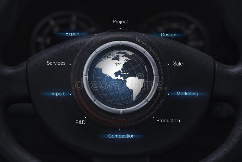 Conceito global do setor automóvel imagem de stock