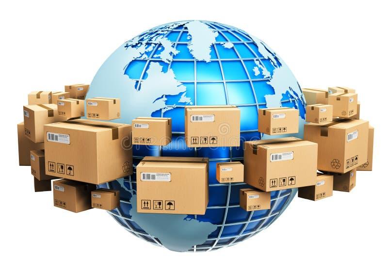 Conceito global do transporte ilustração do vetor
