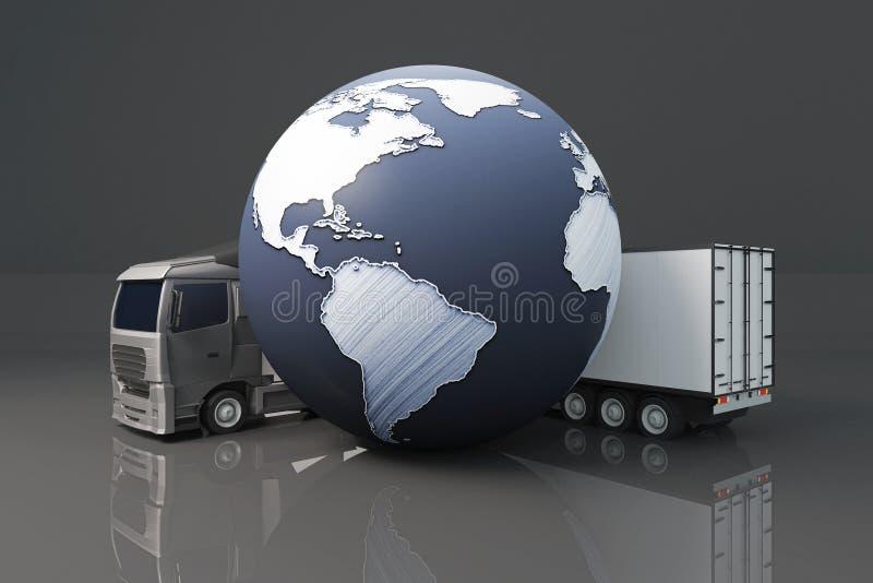 Conceito global do transporte ilustração stock