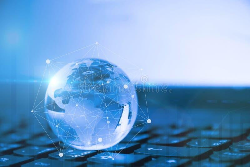 Conceito global & internacional do negócio imagens de stock