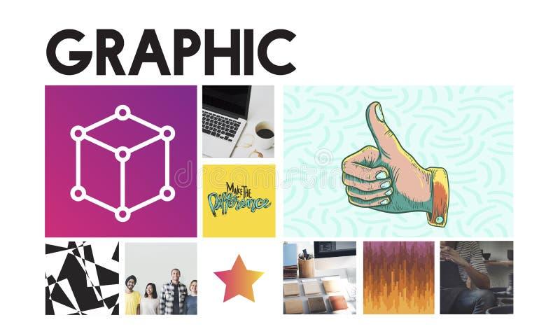 Conceito gráfico da caixa da simplicidade do projeto da inovação ilustração stock
