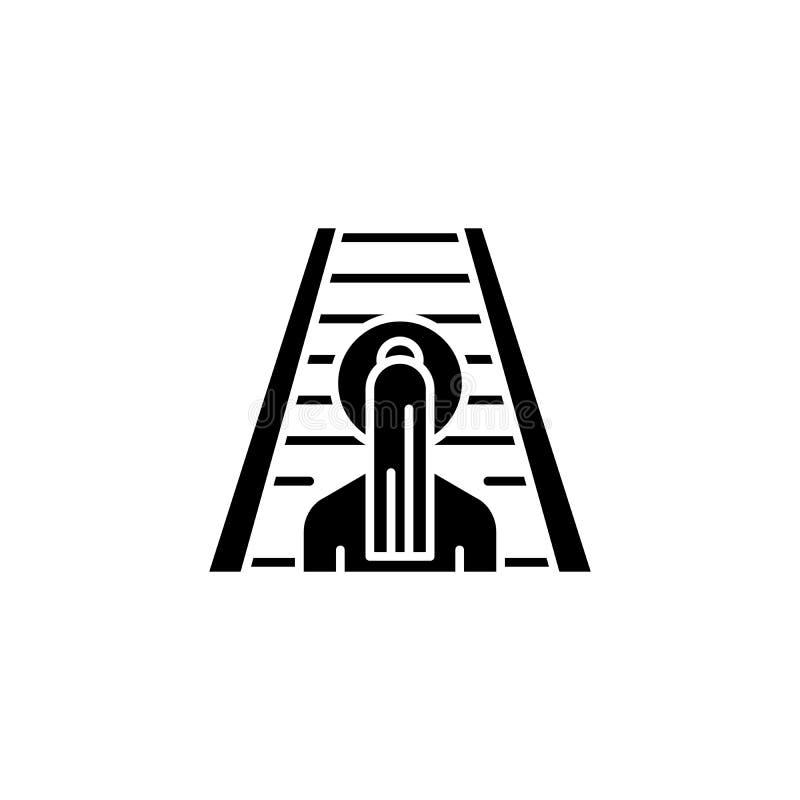 Conceito gradual do ícone do preto do crescimento Símbolo liso do vetor do crescimento gradual, sinal, ilustração ilustração do vetor