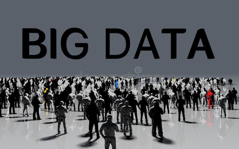 Conceito grande dos dados ilustração stock