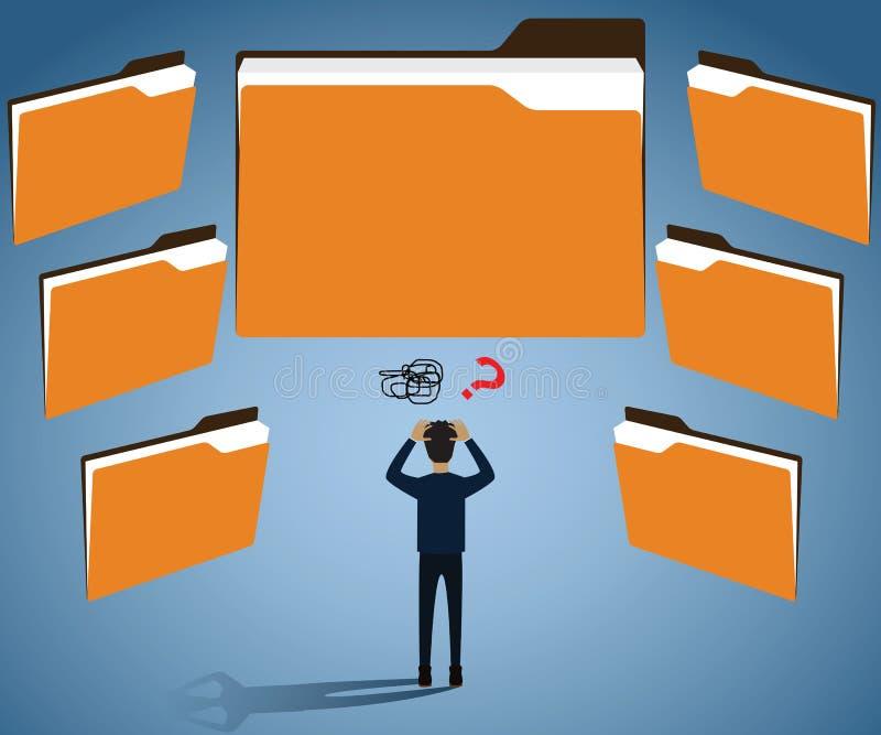 """Conceito grande dos dados, dados do cliente vetor do †tão enorme do negócio """" ilustração stock"""
