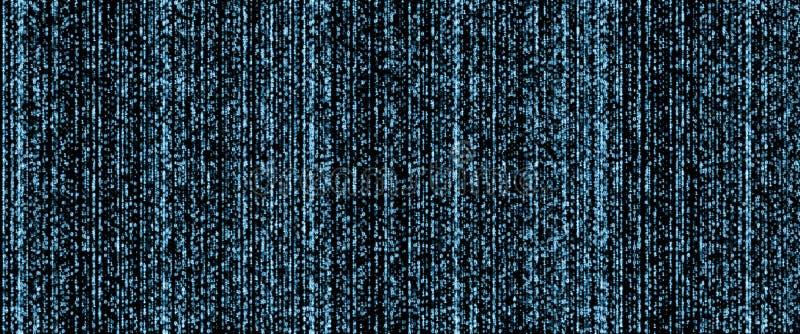 Conceito grande dos dados A grande quantidade de dados binários representa a dificuldade e o desafio do processamento ilustração royalty free