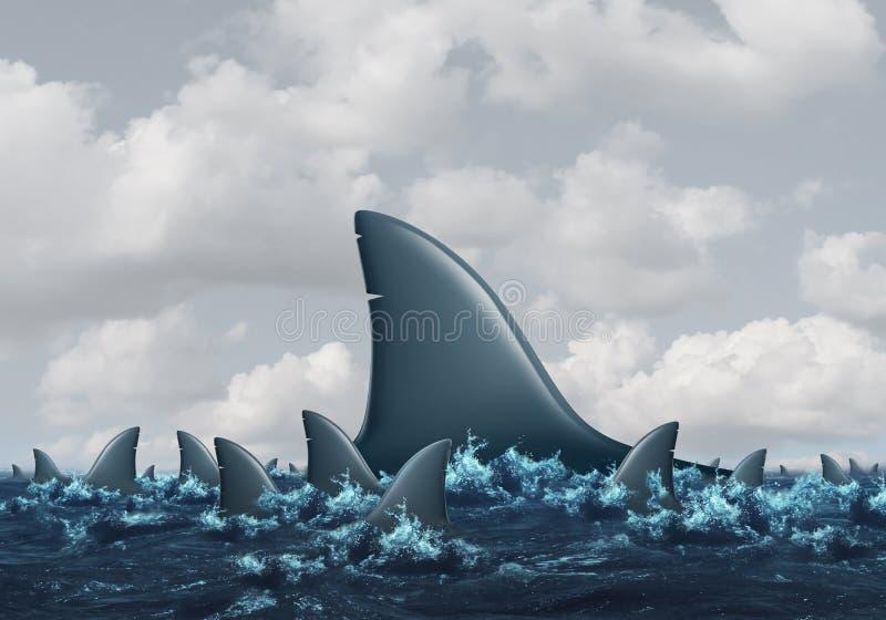 Conceito grande dos peixes ilustração stock