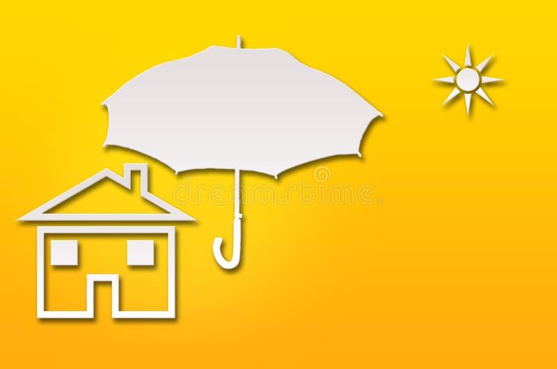 Conceito home abstrato do seguro ilustração stock