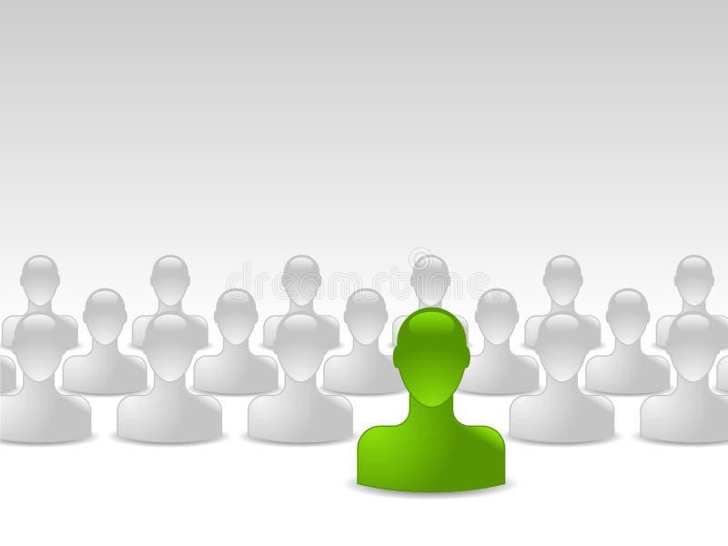Conceito humano verde do negócio ilustração stock