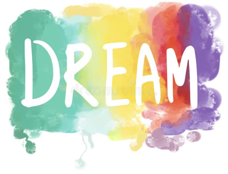 Conceito ideal da visão de Desire Hopeful Inspiration Imagination Goal ilustração royalty free