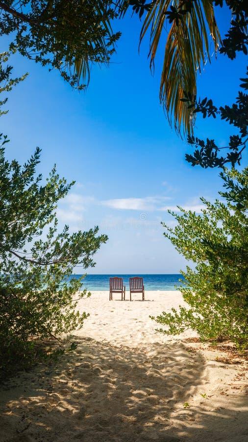 Conceito ideal romântico do feriado do turismo do abrandamento tropical imagens de stock