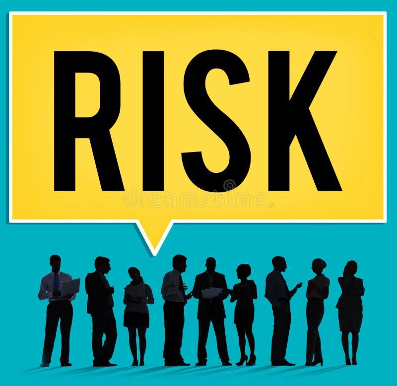 Conceito incerto da fraqueza da segurança da segurança da possibilidade do risco foto de stock