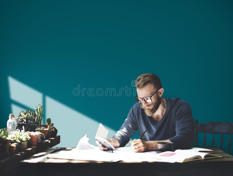 Conceito incorporado de Studio Leisure Contemplation do homem de negócios foto de stock royalty free