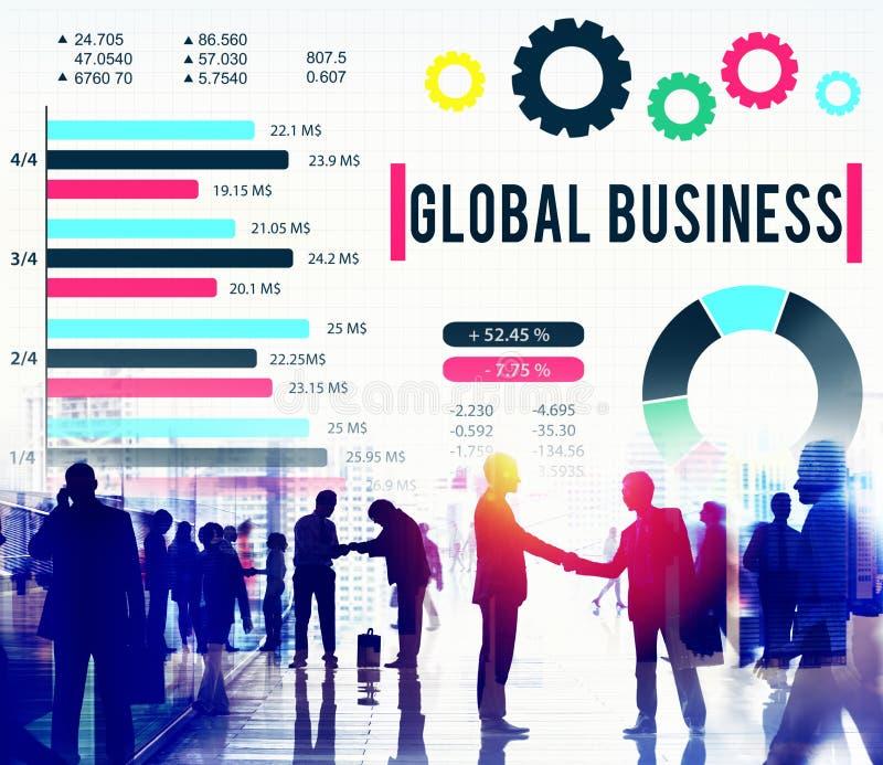 Conceito incorporado do desenvolvimento do crescimento do negócio global fotos de stock royalty free