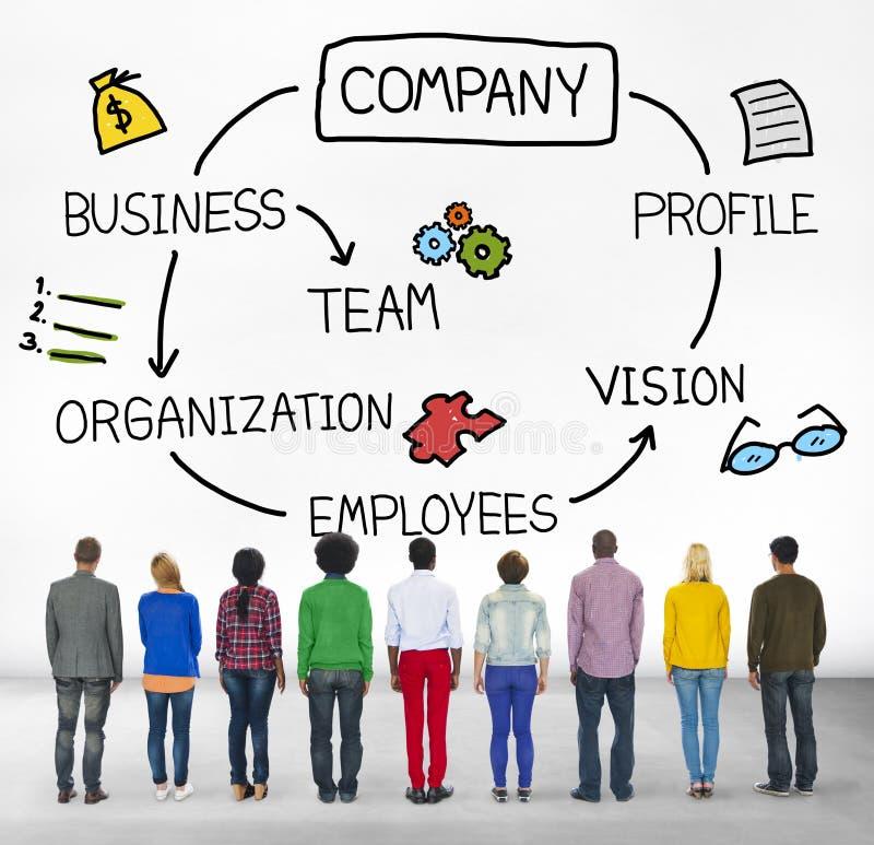 Conceito incorporado do grupo dos empregados da organização da empresa imagem de stock