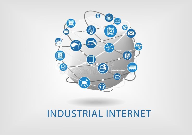 Conceito industrial do Internet ilustração stock