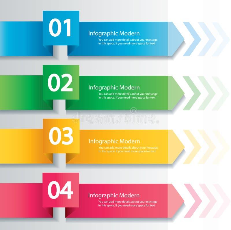 Conceito infographic da seta Molde do vetor com 4 opções ilustração do vetor