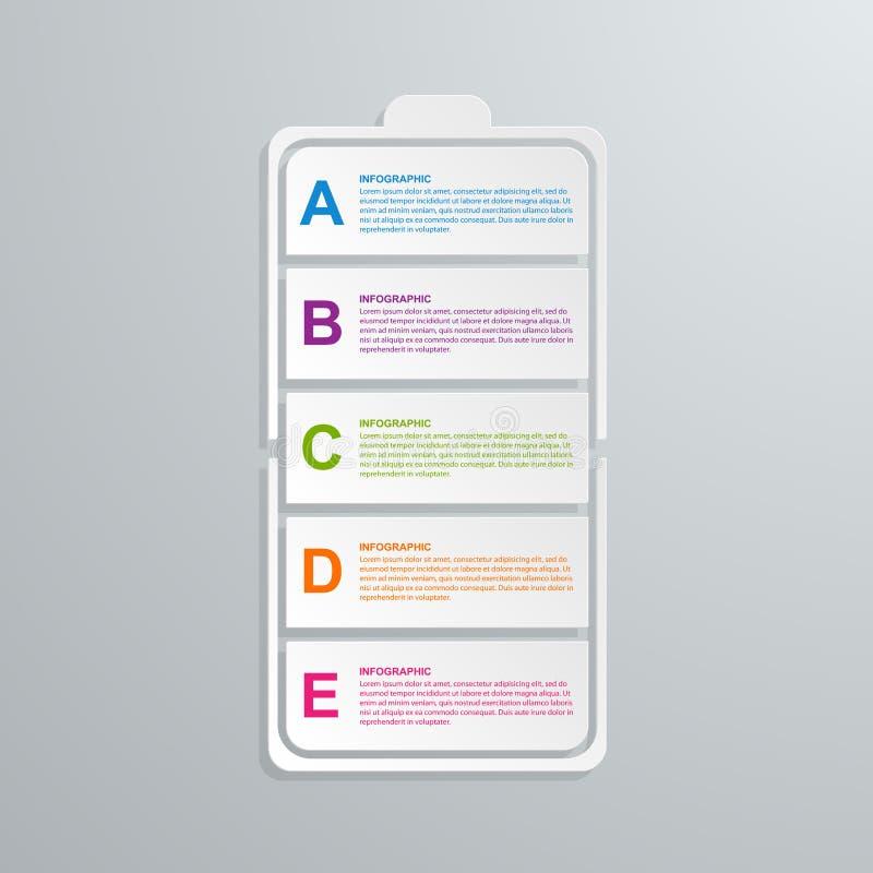 Conceito infographic do negócio da tecnologia de papel criativa ilustração royalty free