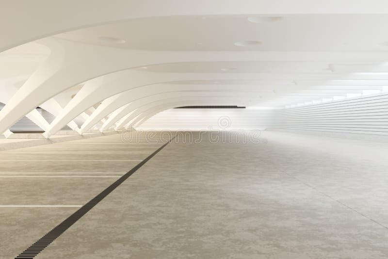 Interior abstrato vazio futurista moderno fotografia de stock royalty free