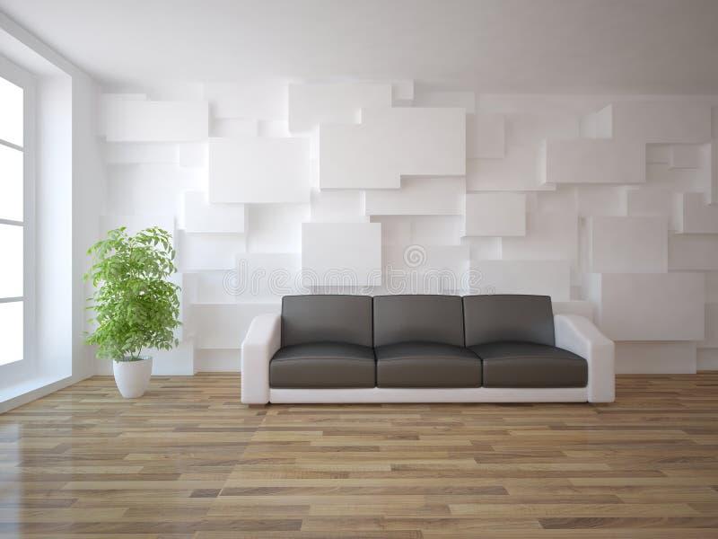 Conceito interior branco ilustração stock