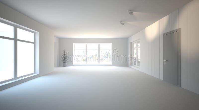 Conceito interior branco para a sala de visitas ilustração royalty free