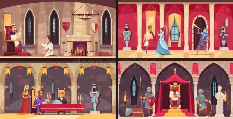 Conceito interior do castelo ilustração royalty free