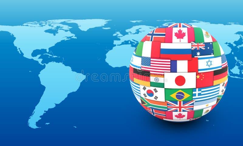 Conceito internacional de uma comunicação ilustração royalty free