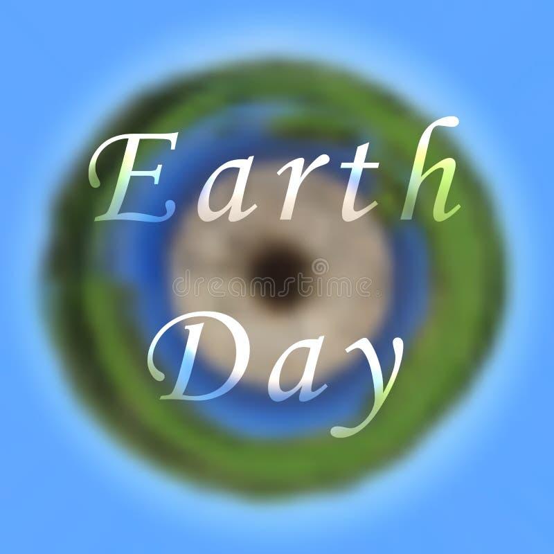 Conceito internacional do planeta do Dia da Terra O globo do espaço Abst ilustração stock