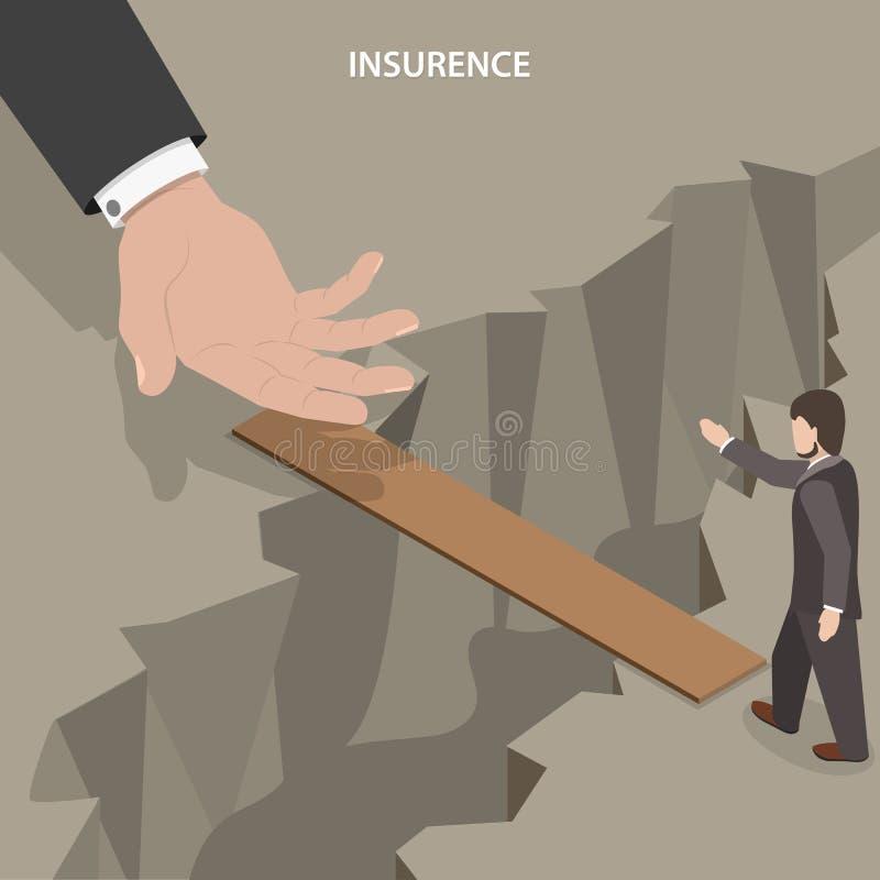 Conceito isométrico do vetor do seguro ilustração stock