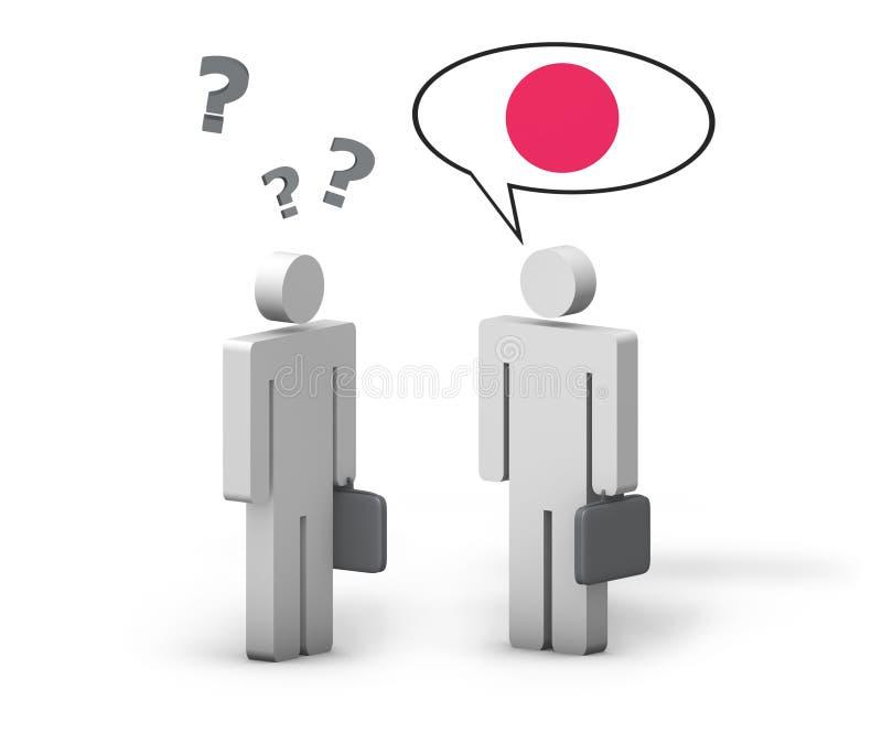 Conceito do japonês do negócio ilustração do vetor