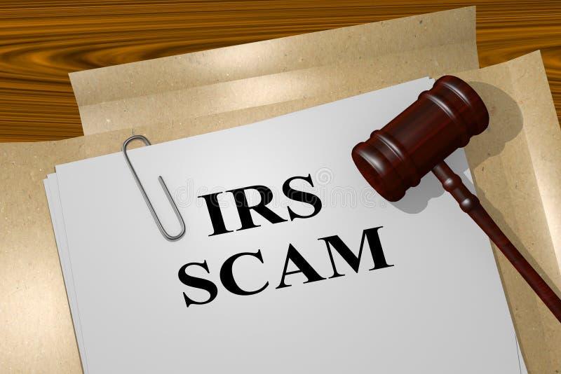 Conceito legal do IRS Scam ilustração do vetor