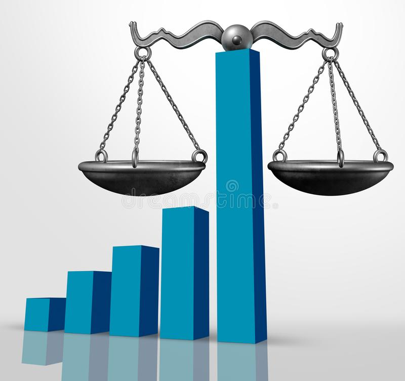 Conceito legal do negócio da lei financeira ilustração royalty free