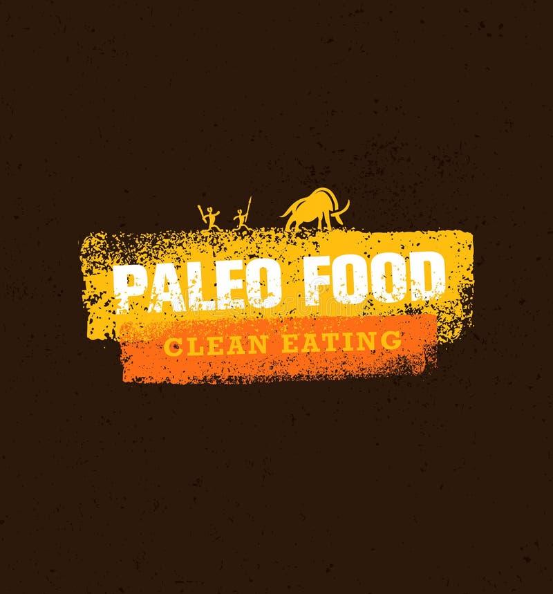 Conceito limpo do vetor comer do alimento de Paleo no fundo orgânico ilustração do vetor