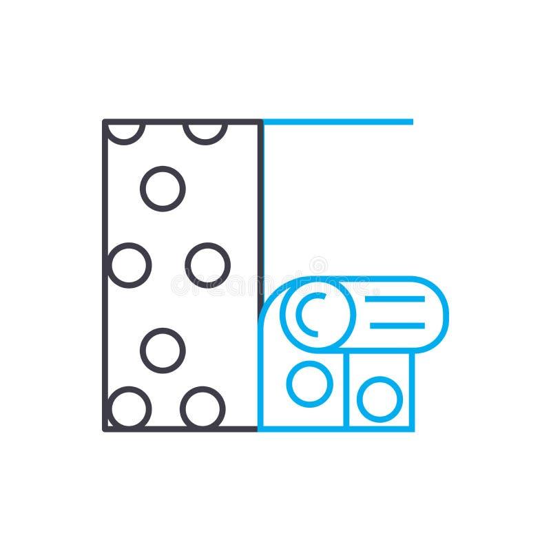 Conceito linear de suspensão do ícone do papel de parede O papel de parede de suspensão alinha o sinal do vetor, símbolo, ilustra ilustração do vetor