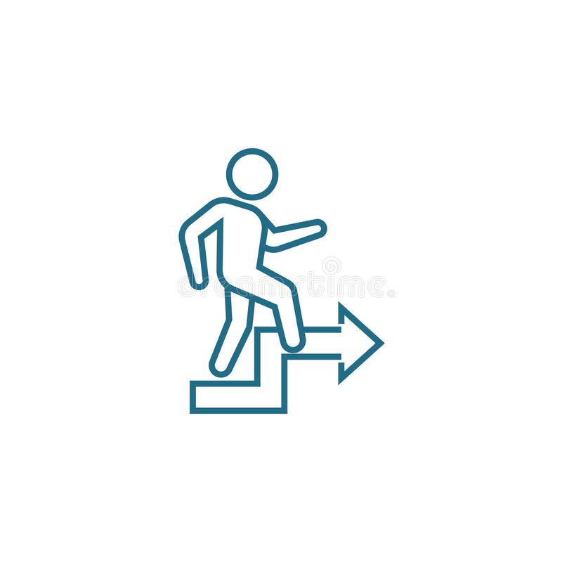 Conceito linear do ícone do crescimento pessoal Linha pessoal sinal do crescimento do vetor, símbolo, ilustração ilustração do vetor