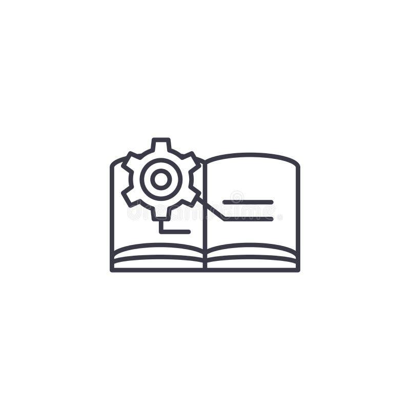 Conceito linear do ícone da documentação técnica Linha técnica sinal da documentação do vetor, símbolo, ilustração ilustração do vetor