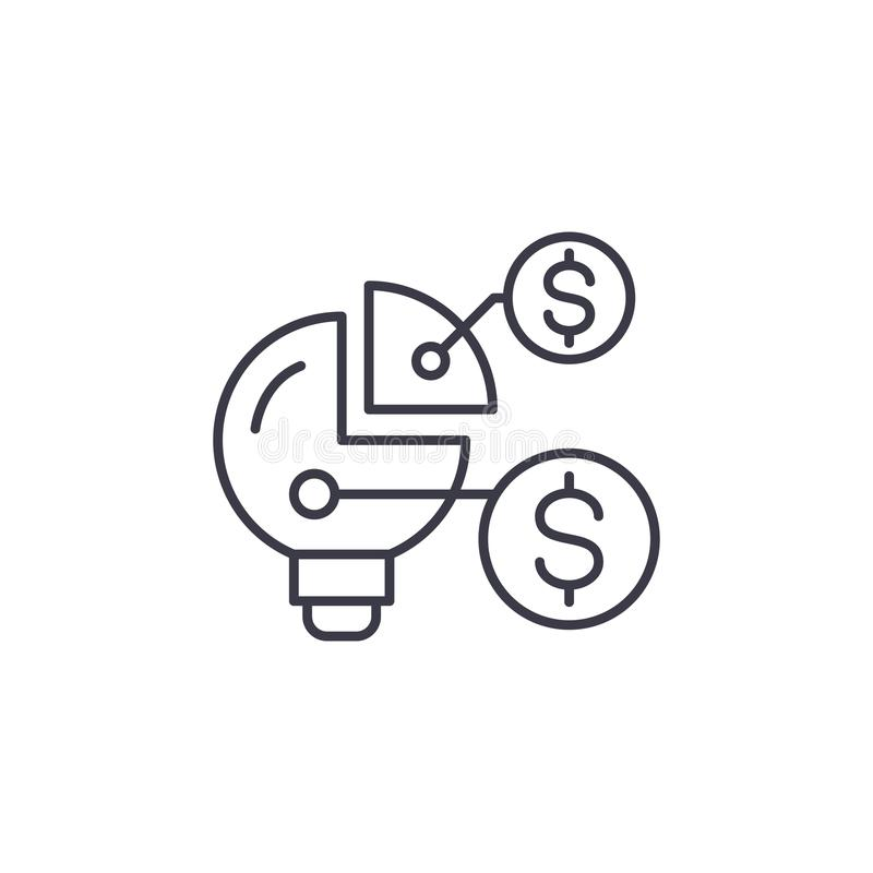 Conceito linear do ícone da estrutura de organização financeira Linha sinal da estrutura de organização financeira do vetor, símb ilustração do vetor