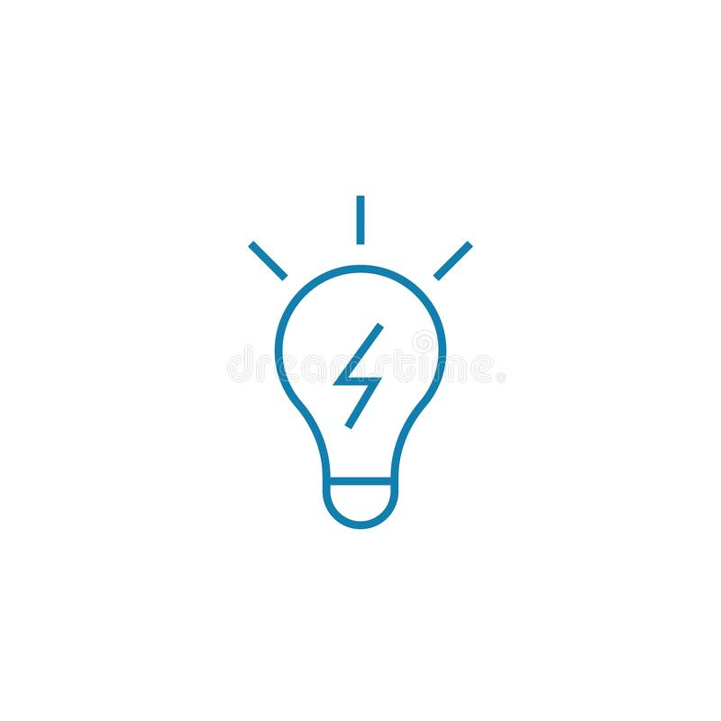 Conceito linear do ícone da solução inovativa Linha inovativa sinal da solução do vetor, símbolo, ilustração ilustração do vetor