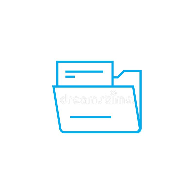 Conceito linear do ícone do dobrador do original Documente a linha sinal do dobrador do vetor, símbolo, ilustração ilustração stock