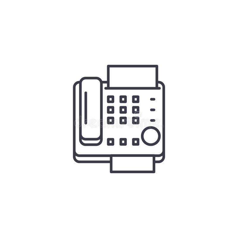 Conceito linear do ícone do fax Linha sinal do fax do vetor, símbolo, ilustração ilustração royalty free